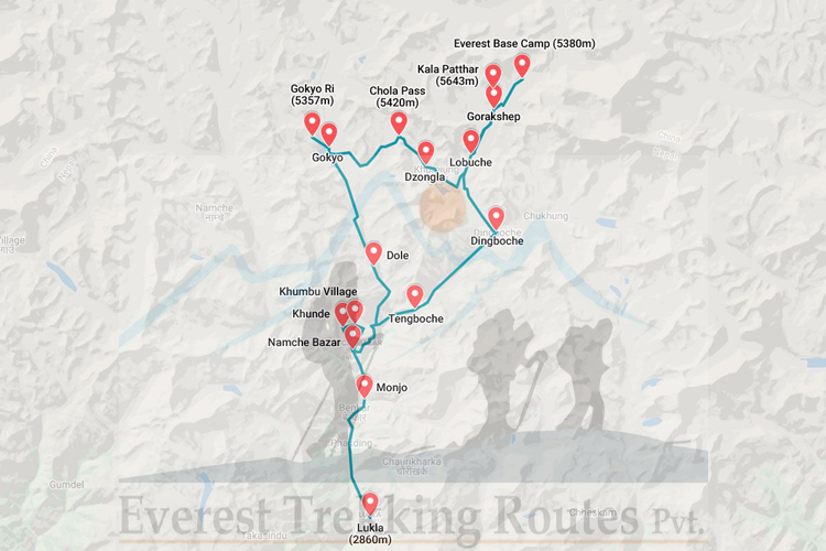 Everest Base Camp Route Map